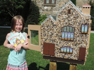 Seven-year-old Ashlin Kate took full advantage of the new Little Free Library at BEPC!