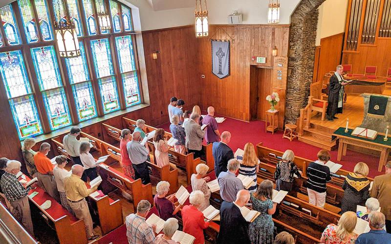 Worship Service Banner Elk Presbyterian