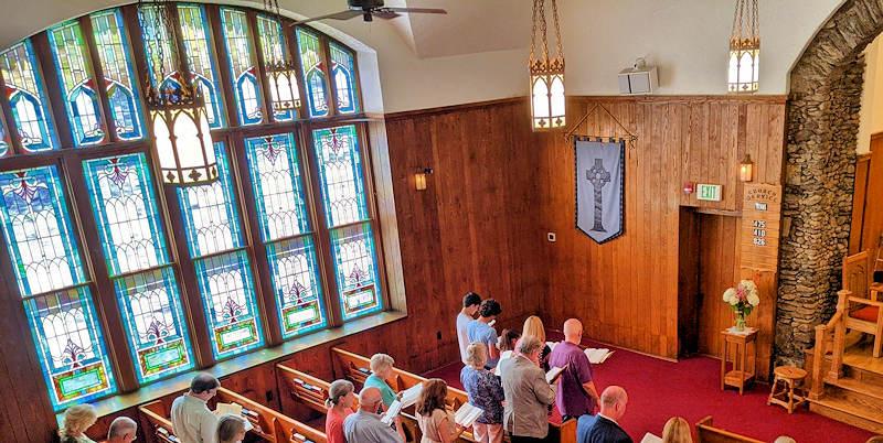 Banner Elk Presbyterian Church Stained Glass